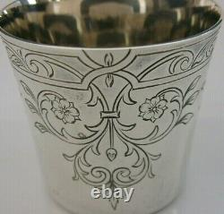 CHARLES II REPLICA ENGLISH SOLID STERLING SILVER BEAKER CUP 1983 58g SUPERB