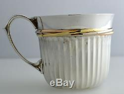 Cartier France. 925 Sterling Silver Tri Color Trinity Wrap Design Cup
