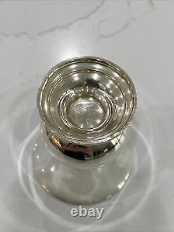 Cartier Sterling Silver Footed Baby Cup Or Urn 67 Grams