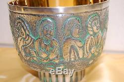 Classic Sterling Silver Cup 12 Apostles Chalice. #392inside Gold Plated. Church