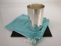 Classic Tall Tiffany & Co. Sterling Silver Beaker Tumbler Mint Julep Cup & Pouch