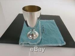 Classic Tiffany & Co Faneuil Sterling Silver Liquor Shot Cup & Pouch, c1960s