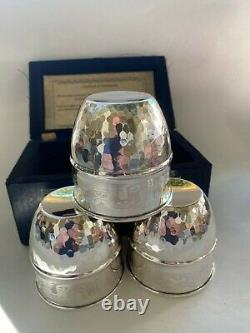 Cups and Balls magic Spectacular! Solid. 925 Sterling Silver Quezalcoatl cups