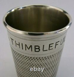 ENGLISH SOLID STERLING SILVER LARGE THIMBLE TOT SHOT CUP MEASURE 1955 42g