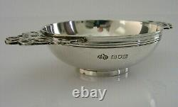 Edwardian English Solid Sterling Silver Whisky Cup Quaich 1907 Antique