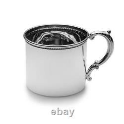 Empire Sterling Silver Beaded Baby Cup #98, New in Box, Made in USA