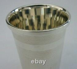 English Solid Sterling Silver Large Thimble Tot Shot Cup Measure 1985 Barware