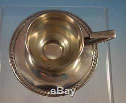 Etruscan by Gorham Sterling Silver Demi Cup and Saucer with Liner (#1599)