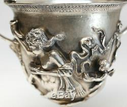 Extraordinary Sterling Silver Kantharos Cup of Pompeii by Mabuti for Buccellati