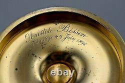 + Fine Antique French Chalice with Paten + Cup & Paten Sterling Silver + (B415)