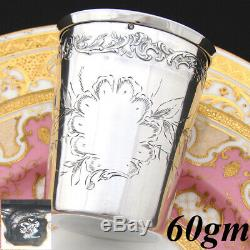 Fine Antique French Sterling Silver Wine or Mint Julep Cup, Tumbler or Timbale