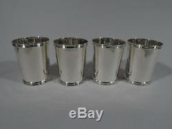 Frank W Smith Mint Juleps 3759 Set 4 Julep Cups American Sterling Silver