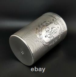 French Antique Sterling Silver Wine Tumbler Mint Julep Cup Beaker Heavy 138 Grs