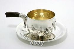 French Sterling Silver Pipkin Cup and Under Plate Paris 1886-1895