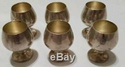 GORHAM Mini Cordial Cups Set Trivitray 6 Goblets 955 Sterling Silver