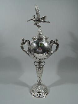 George V Trophy Cup Art Deco Hydroplane Boat Race English Sterling Silver
