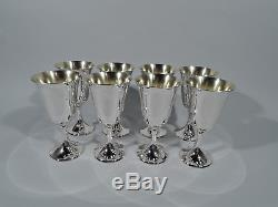 Gorham Goblets 272 Set of 8 Modern Barware Cups American Sterling Silver