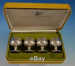 Gorham Sterling Silver Cordial Cups Set 4pc in Fitted Box #955 (#2528)