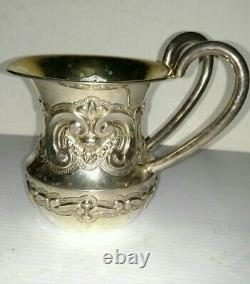 Great vintage sterling silver Judaica 2 handle washing cup gold wash Portugal