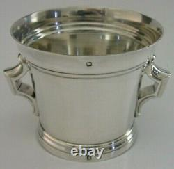 HEAVY 140g RARE FRENCH STERLING SILVER CUP BEAKER c1900 ANTIQUE TETARD FRERES