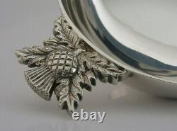 HEAVY SCOTTISH STERLING SILVER WHISKY CUP QUAICH 2009 96g 4.5 inch BARWARE