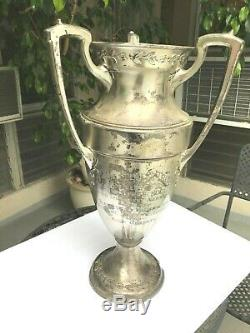 HUGE Deco Trophy Loving Cup 23 24 Tall RARE