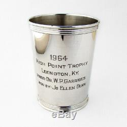 Horse Mint Julep Cup 1964 Sterling Silver Benjamin Trees Kentucky
