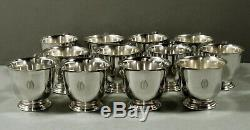 International Co. Sterling Punch Bowl & Cups c1940 Paul Revere