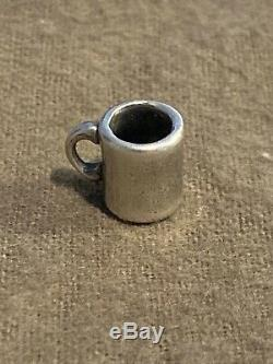 James Avery Retired Coffee Mug Cup Charm Sterling Silver