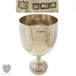 LARGE Antique sterling silver cup Australian horse racing trophy 8.5 tall 1905
