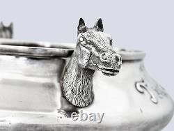 Magnificent Art Deco 1925 Sterling Silver Horse Racing Trophy Pimlico Cup 1925