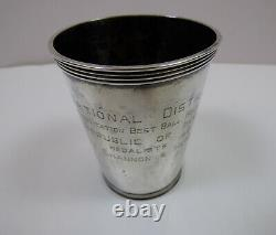 Manchester Silver Co. Panama 1951 National Distillers Sterling Julep Cup