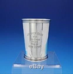 Manchester Sterling Silver Mint Julep Cup Fishing Trophy 3 3/4 #3759 (#3763)