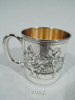 Morss Mug 999 Antique Christening Baby Cup American Sterling Silver