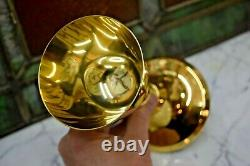 Nice Antique Gold Plated Chalice Cup Sterling Silver 7 7/8 ht (CU#342)
