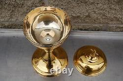 + Nice Traditional Ciborium + Cup Sterling Silver + (#882) + chalice co