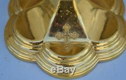 + Older 9 Gold Plated Gothic Church Chalice Cup Sterling Silver (CA112) +