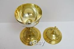 Older Benziger Bros Ciborium (Cup Sterling Silver) + Goldplated (CU542) Chalice