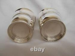 PAIR OF FRENCH ART DECO STERLING SILVER EGG CUPS, EARLY 20th CENTURY