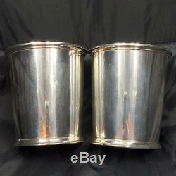Pair Fisher Sterling Silver Mint Julep Cup #87 Vintage 925