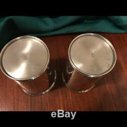 Pair of Vintage Sterling Silver Mint Julep Cup 3759 by Manchester, No Monograms
