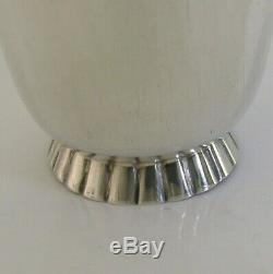 QUALITY SOLID STERLING SILVER BEAKER CUP LONDON 1958 BAR WARE 48g