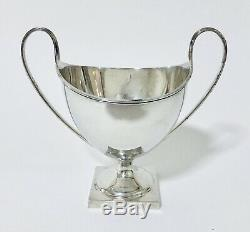 Quality Antique Solid Sterling Silver Twin Handled Cup Trophy 1910