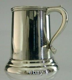 RARE CHINESE EXPORT STERLING SILVER MINIATURE TANKARD TOT SHOT CUP c1920 ANTIQUE