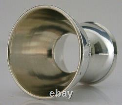 RARE FRENCH DOUBLE STERLING SILVER EGG CUP c1910 ANTIQUE