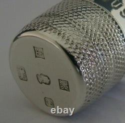Rare English Solid Sterling Silver Large Thimble Tot Shot Cup Measure 1977