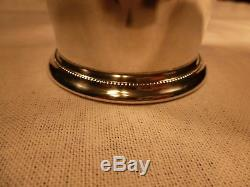Rare International Sterling Silver 4 Patrick Henry Footed Mint Julep Cup Beaker