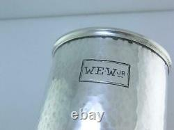 Rare Sterling WATROUS Cup / Mug with hammered surface & Elephant handle