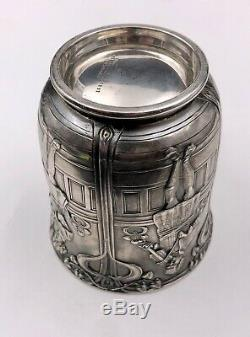 Rare Tiffany & Co Makers Sterling Silver Old King Cole Three Fiddlers Mug Cup