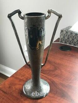 Rare -Vintage Silver Crest Sterling Silver & Bronze Trophy Cup #2407 From 1920s